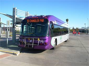 First Transit's strategy for its Valley Metro Regional Public Transportation Authority contract saved over 450,000 fleet miles per year and 23,000 pay hours.