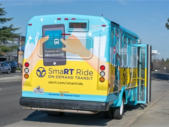 Sacramento Regional Transit launched a six-month pilot program earlier this year to test microtransit service.SacramentoRT
