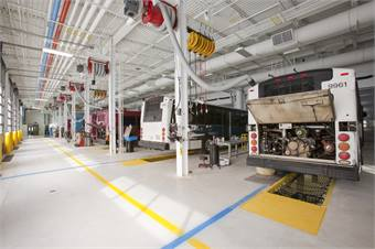 "South Bend, Ind.-based TRANSPO's Emil ""Lucky"" Reznik administration, maintenance & operations facility."