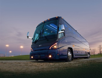 MCI's 2018 model J4500 coach features more legroom and a comfortable 60-seat capacity.