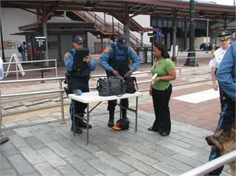 The open environment of transit poses a challenge for security personnel. Photo courtesy NJ Transit.