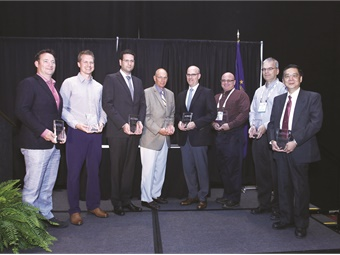 Last year's Innovative Solutions Award winners included reps from LA Metro, Arrow Stage Lines, and Rosco.