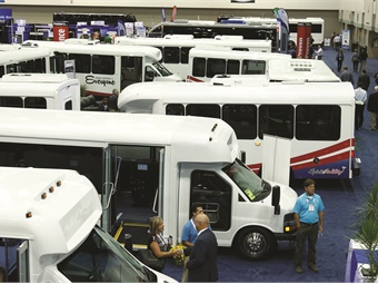 This year's BusCon will feature more than 70 vehicles on the show floor.