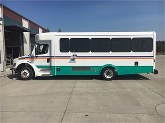 Coupeville, Wash.'s Island Transit has the CLASS system on 13 of its 29-foot Glaval Legacy buses, built on a Freightliner chassis, and has just ordered another seven to be delivered by the end of the year.
