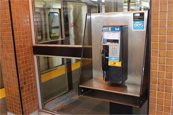 TTC's Crisis Link suicide prevention program provides on each subway platform pay phones that connect people in distress and contemplating suicide with a counselor.