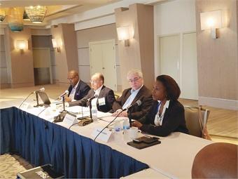 APTA Executive Committee members (L to R): Freddie Fuller, Paul Skoutelas, David Stackrow, and Nuria Fernandez attending a BMBG meeting. APTA