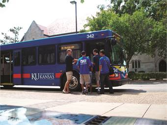 Shifting the focus from governance structure to service helped Lawrence, Kan.-based Kansas University and Lawrence Transit System offer transit benefits to the entire community.