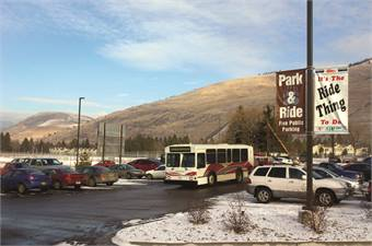 The Associated Students of Montana, part of the University of Montana, and Mountain Line combined their ridership numbers, to get STIC grant funding and run the Park-N-Ride together.