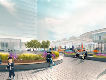 The 30th Street Station District Plan identifies possibilities to generate revenue, improve linkages to the community, utilize existing properties and air rights, and define partnerships with neighboring entities to optimize planning of future development.