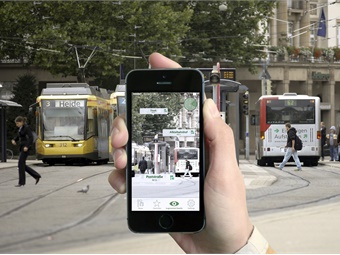 Trip-planning app uses augmented reality to offer live passenger