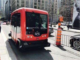 Driverless shuttles can integrate with other transportation modes for more rider efficiency.