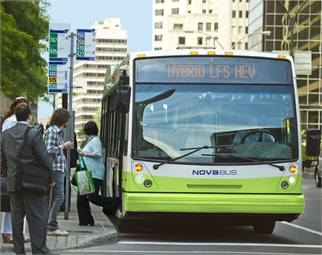 The Series-E uses regenerative braking to power power air conditioning, power steering, engine cooling fans and air compressors. Nova Bus recently equipped 475 buses with the system for the Association du Transport Urbain du Quebec.