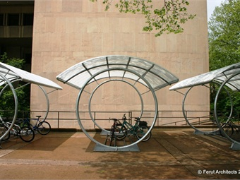 After clients asked Duo-Gard if they could convert one of their bus shelters into a bike shelter, they began expanding their offerings to provide this product option as well.