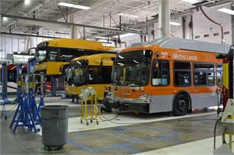 Over the last five years, New Flyer has worked to increase efficiencies at its manufacturing plants.
