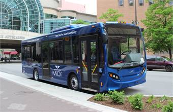 In May, New Flyer introduced a new medium-size bus in conjunction with Alexander Dennis.
