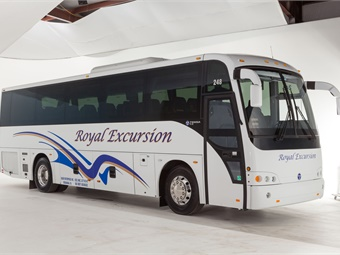 Royal Excursion recently took delivery of the first newly-enhanced Temsa TS 35E in North America from CH Bus Sales.