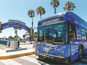 The usage of battery-electric buses continues to grow, particularly in California where agencies like BBB have set aggressive zero-emission goals.