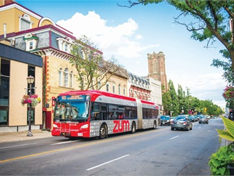 With a total of 438 vehicles, Ontario, Canada's Brampton Transit comes in at No. 48 in this year's Top 100. Christina DeMelo_Brampton Transit