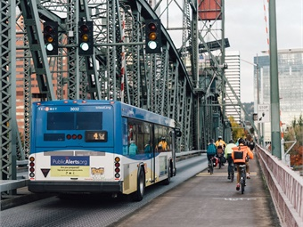 Many transit agencies are also looking at partnering with bike-share, ride-share, and car-share providers and using cloud-based technologies to include these modes as options on their mobile trip-planning apps, as well as integrating them into their fare media. TriMet