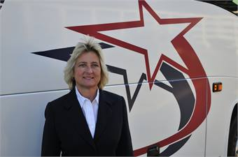 In addition to running Starline Luxury Coaches with her partner Becky Pritchett, Gillis is also heavily involved with the UMA and the Northwest Motorcoach Association.