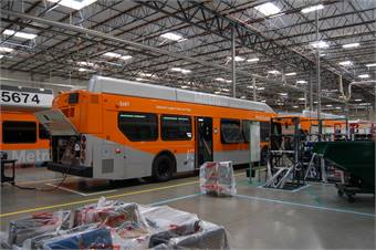 China and India alone account for 60% of all new global bus demand over the next decade, according to industry data. By contrast, the U.S. transit bus market averages around 5,000 units annually, in a global annual market of a half million units of all bus types.