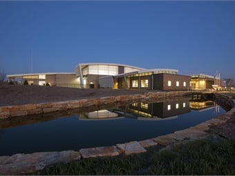 "South Bend, Indiana's Transpo Emil ""Lucky"" Reznik Operations Facility is LEED-NC Platinum rated. Photo: Ken Paul"