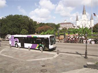 New Orleans RTA came up with a new vehicle design for its Orion buses when it recently went through a rebranding campaign led by the agency's board of commissioners and implemented by Veolia Transportation's marketing department.