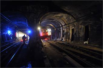 Signal repair work in the Montague Tubes is being done by a third-party contract and will cost $308.6 million.