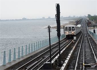 Post-Sandy repair jobs included the Rockaway segment of the A Line.Repairs have already been completed.All photos by Marc A. Hermann