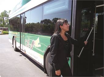 Amaro's network is fairly extensive thanks to her role as an international board member for the Women's Transportation Seminar.
