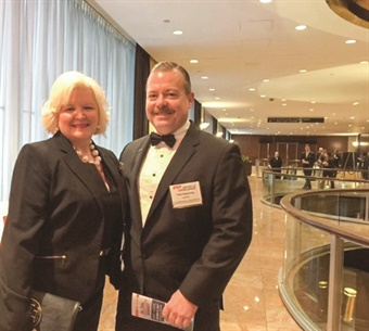 Shepherd (shown with HNTB's Tom Spearing) is an active member of several industry organizations.