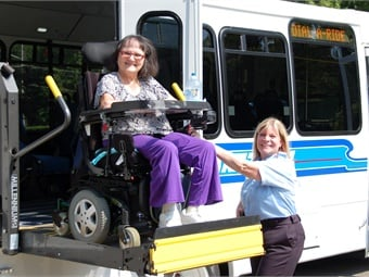 Solid written policies and practices for working with ADA paratransit customers are needed to ensure regulatory compliance and reduce headaches for both the rider and the operator.Photo courtesy Laketran