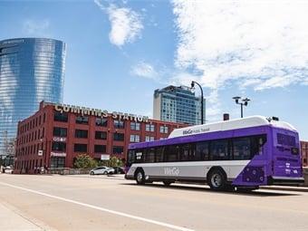 In July 2018, Nashville MTA unveiled its new name, WeGo Public Transit, and its accompanying fleet of rebranded buses. Photo: WeGo Public Transit
