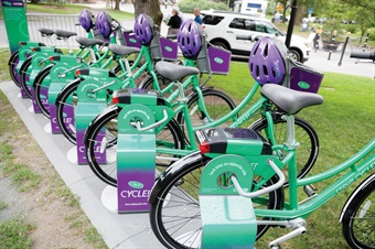 More than 2,000 members have taken 7,615 rides on the agency's regional bikeshare program, CDPHP Cycle!, since its July 2017 launch. Photo: CDTA