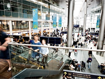 """Buyers of Copenhagen, Denmark's """"Copenhagen Card"""" gain unlimited access to bus, train and Metro across the city, as well as travel to the airport (pictured). Photo via Copenhagen Media Center/Ty Stange"""