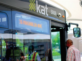 Now into year three of a Five-Year Improvement Plan, KAT has increased service levels on 14 of 23 regular fixed routes, along with restructuring three downtown trolley routes following extensive public input.
