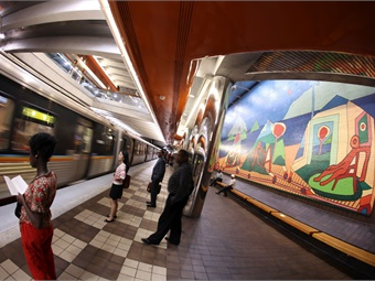 In addition to improving safety on the system, MARTA has also launched a public arts program at rail stations, as well as fresh produce kiosks.
