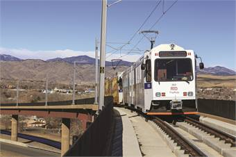 The West Line light rail system, the first portion of RTD's ambitious FasTracks program, debuted in April 2013 eight months ahead of schedule.