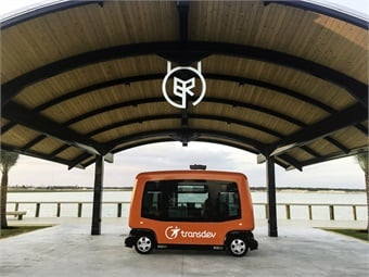 A new town under construction in Southwest Florida, will start running multiple Transdev-operated autonomous shuttles. Photos courtesy Transdev