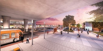 Los Angeles' Metro is applying a user experience (UX)-based approach to a major renovation and expansion of one of the county's busiest light rail stations, the Willowbrook/Rosa Parks Station (renderings shown throughout). Photo: RNL