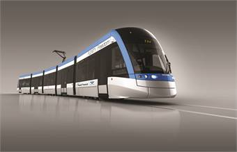 The low-floor light rail transit vehicles are the first of their kind in North America, providing easier access for customers.