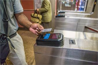 The Ventra open fare payment system allows contactless personal bank cards to be used to pay for fares at turnstiles and on buses.