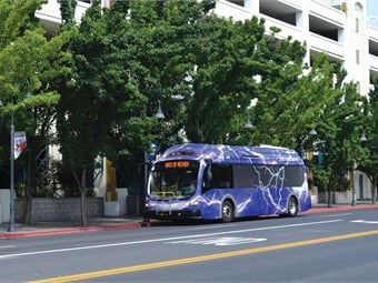 The RTC is delivering new fleet technology, including four electric buses manufactured by Proterra.