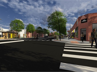 A rendering of the RTC's Virginia Street corridor, which will connect the University of Nevada, Reno to downtown and midtown Reno.