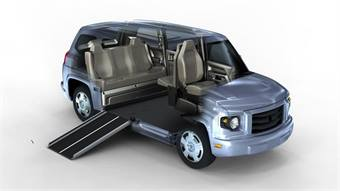 The MV-1 is the first factory-built and assembled wheelchair-accessible  vehicle designed to meet the unique needs of the paratransit market, according to the company.