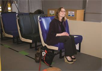 To include user input, the agency has created a mobile seat lab where visitors can test out different seats and provide feedback on their favorites.