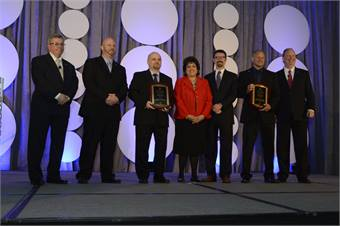 At the Opening General Session, Cincinnati's Southwest Ohio Regional Transit Authority was honored with APTA's safety and security awards, the first time an agency won in both categories the same year.