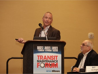 WAVE's Michael Masquelier discussed inductive charging during this year's TMF.