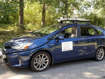 A team of MIT researchers tested MapLite on a Toyota Prius outfitted with a range of LIDAR and IMU sensors. Photo: CSAIL