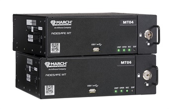 Available in 4 and 6-channel models, the compact IP recorders are ideal for mid-sized vehicles and paratransit fleets ready to transition to all-IP video capture. Photo: March Networks